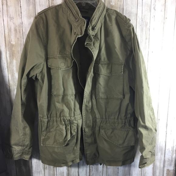 b5c58fc9d52ea GAP Jackets & Coats | Military Field Coat Mens Xl | Poshmark
